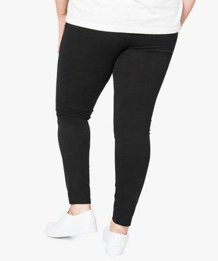 Legging uni en coton stretch vue3 - GEMO (G TAILLE) - GEMO