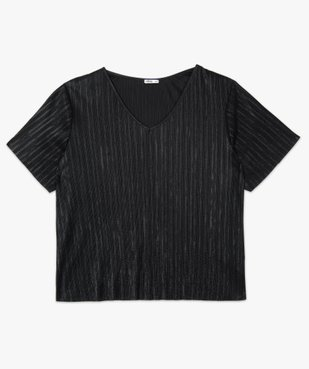 Tee-shirt femme grande taille plissé vue4 - Nikesneakers (G TAILLE) - Nikesneakers