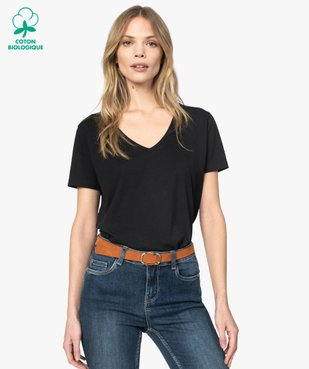 Tee-shirt femme à col V et manches courtes vue1 - Nikesneakers(FEMME PAP) - Nikesneakers