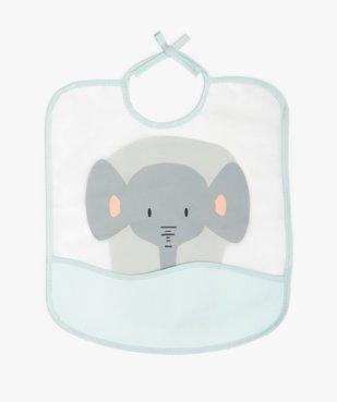 Bavoir bébé plastifié à poche imprimé éléphant vue1 - DIVERS LICENCE - GEMO