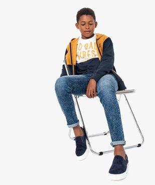Sweat garçon zippé bicolore à capuche  vue5 - GEMO (ENFANT) - GEMO