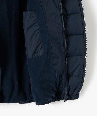 Doudoune garçon déperlante à doublure polaire vue4 - Nikesneakers (JUNIOR) - Nikesneakers