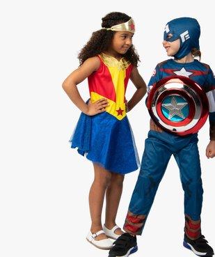 Déguisement fille Wonder Woman (2 pièces) vue4 - DC COMICS - GEMO