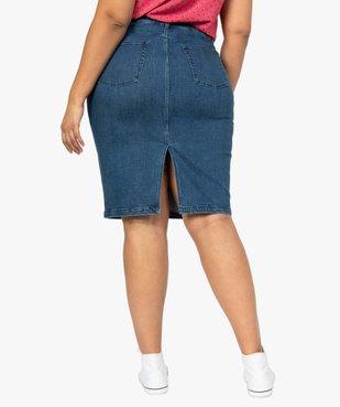 Jupe femme en jean fendue vue3 - GEMO (G TAILLE) - GEMO