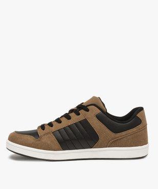 Baskets homme basses à lacets style skate shoes vue3 - GEMO (HOMME) - GEMO