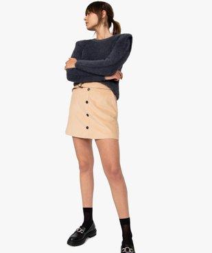 Jupe femme en velours côtelé avec ceinture vue5 - GEMO(FEMME PAP) - GEMO