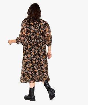 Robe femme longue à motifs fleuris et manches amples  vue3 - GEMO (G TAILLE) - GEMO
