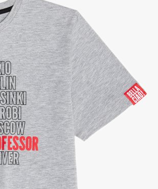 Tee-shirt garçon chiné imprimé - La Casa de Papel vue3 - CASADEPAPEL - GEMO