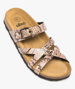 Sandales femme à brides croisées vue5 - GEMO (CASUAL) - GEMO