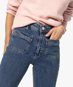 Jean femme coupe droite avec poches plaquées vue2 - GEMO(FEMME PAP) - GEMO