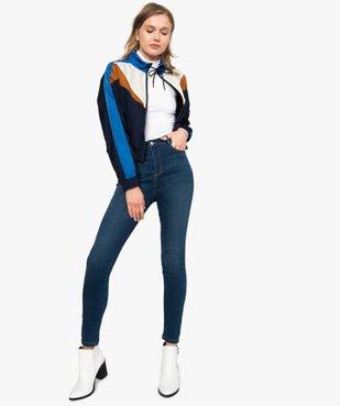 Tee-shirt femme uni avec col roulé et manches longues vue5 - GEMO(URBAIN) - GEMO