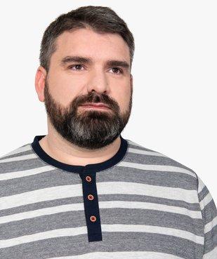 Pyjama homme avec haut rayé vue2 - Nikesneakers(HOMWR HOM) - Nikesneakers