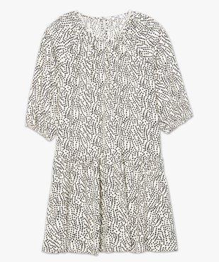 Robe femme imprimée courte à manches ¾  vue4 - GEMO(FEMME PAP) - GEMO
