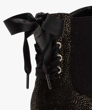 Boots femme chelsea zippées avec ruban sur le contrefort vue6 - GEMO (CASUAL) - GEMO