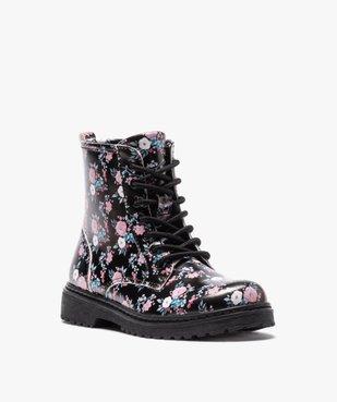 Boots fille à lacets et zip imprimées fleurs vue2 - GEMO (ENFANT) - GEMO
