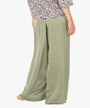 Bas de pyjama femme large et satiné vue3 - GEMO(HOMWR FEM) - GEMO