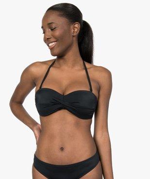 Haut de maillot de bain femme bandeau à bretelles amovibles vue1 - GEMO (PLAGE) - GEMO