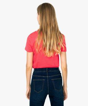 Tee-shirt femme à manches coutes - Adidas vue3 - ADIDAS - GEMO