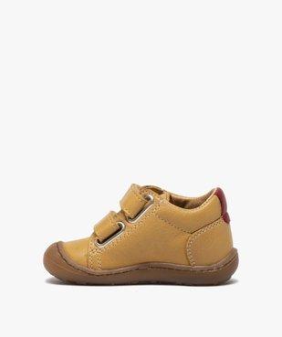 Chaussures premiers pas bébé garçon à scratch - Bopy vue3 - BOPY - GEMO