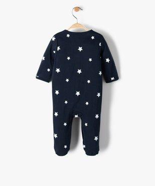 Pyjama bébé garçon avec motifs étoiles 100% coton biologique vue3 - GEMO C4G BEBE - GEMO