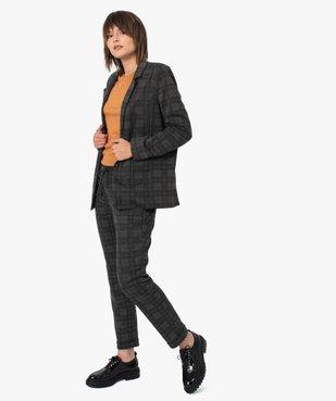 Veste femme à carreaux et col tailleur vue5 - GEMO(FEMME PAP) - GEMO