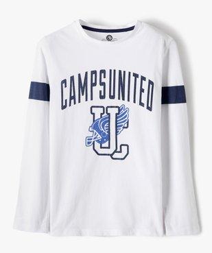 Tee-shirt garçon à manches longues imprimé patiné - Camps vue1 - CAMPS UNITED - GEMO