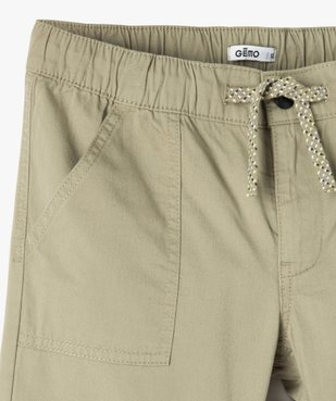 Bermuda garçon en toile avec poches surpiquées vue2 - GEMO (ENFANT) - GEMO