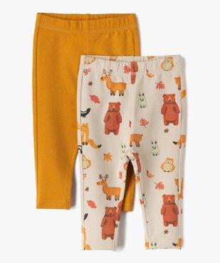 Pantalon bébé garçon en maille fine (lot de 2) vue1 - GEMO C4G BEBE - GEMO