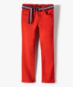 Pantalon garçon en toile avec ceinture – Lulu Castagnette vue2 - LULUCASTAGNETTE - GEMO