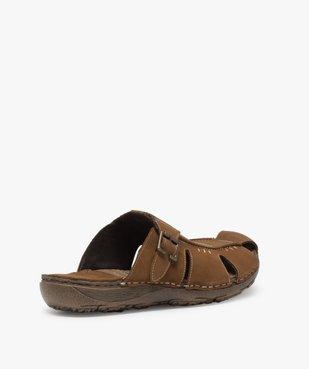 Sandales homme mules à semelle intérieure cuir - Roadsign vue4 - ROADSIGN - GEMO