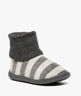 Chaussons bébé à rayures avec tige façon chaussettes vue2 - GEMO (ENFANT) - GEMO