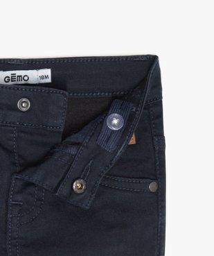 Pantalon bébé garçon coupe slim en toile extensible vue3 - GEMO(BEBE DEBT) - GEMO