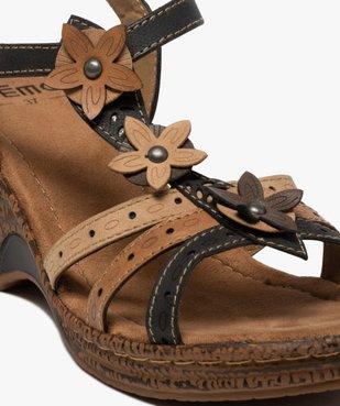 Sandales femme à talon compensé extra légères vue6 - GEMO(URBAIN) - GEMO
