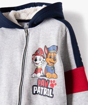 Sweat garçon zippé chaud à capuche - La Pat Patrouille vue3 - PAT PATROUILLE - GEMO