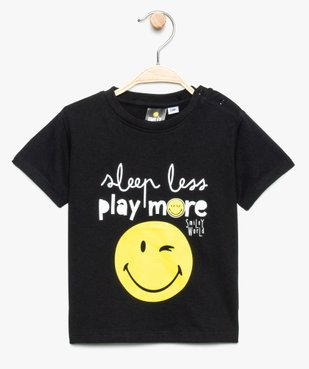 Tee-shirt bébé garçon avec large motif - SmileyWorld vue1 - SMILEY - GEMO