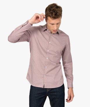 Chemise homme à motifs colorés coupe slim vue2 - GEMO (HOMME) - GEMO
