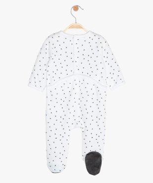Pyjama bébé en velours imprimé en polyester recyclé vue2 - GEMO(BB COUCHE) - GEMO