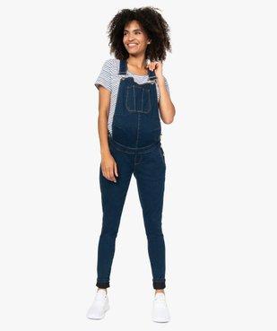 Salopette en jean de grossesse en denim stretch vue1 - Nikesneakers (MATER) - Nikesneakers