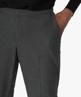 Pantalon femme aspect lainage avec taille élastiquée vue2 - GEMO(FEMME PAP) - GEMO
