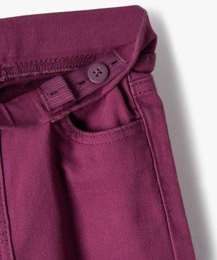 Pantalon fille skinny uni à taille élastiquée vue3 - Nikesneakers (ENFANT) - Nikesneakers