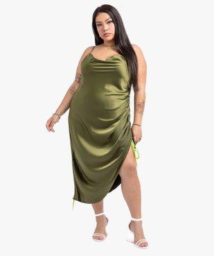 Robe femme à fines bretelles  et col bénitier - Gémo x Lalaa Misaki vue5 - GEMO (G TAILLE) - GEMO
