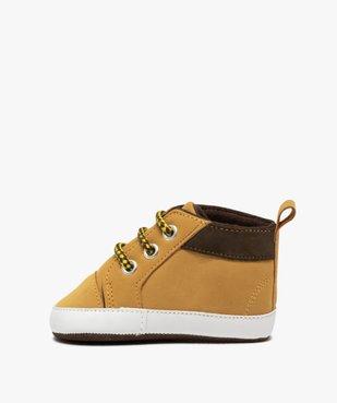 Chaussons de naissance bébé garçon style boots à lacets vue3 - Nikesneakers C4G BEBE - Nikesneakers
