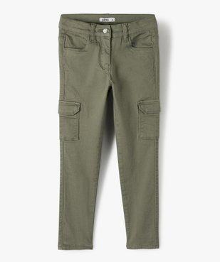 Pantalon fille avec poches à rabat sur les cuisses vue1 - GEMO C4G FILLE - GEMO