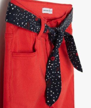 Pantalon fille extensible avec ceinture  – Lulu Castagnette vue2 - LULUCASTAGNETTE - Nikesneakers