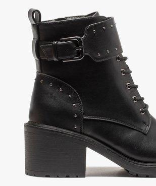 Boots femme unies à talon carré et brides à clous vue6 - GEMO(URBAIN) - GEMO