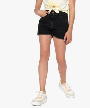 Short fille en jean ultra court taille haute vue1 - GEMO (JUNIOR) - GEMO