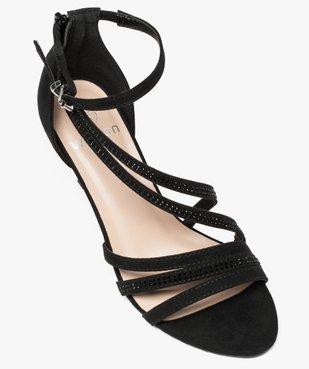 Sandales femme à talon avec fines brides brillantes vue5 - GEMO(URBAIN) - GEMO