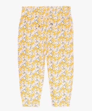 Pantalon bébé fille à motifs fleuris resserré aux chevilles vue1 - GEMO(BEBE DEBT) - GEMO