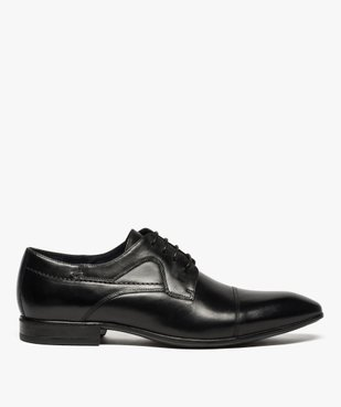 Derbies homme dessus cuir à bout carré vue1 - Nikesneakers(URBAIN) - Nikesneakers