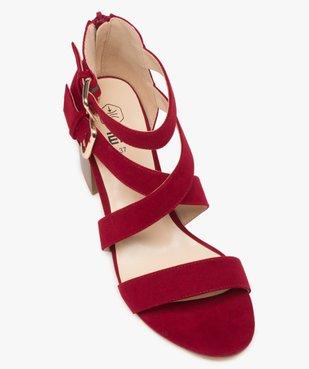 Sandales femme à talon à brides unies en suédine vue5 - GEMO(URBAIN) - GEMO